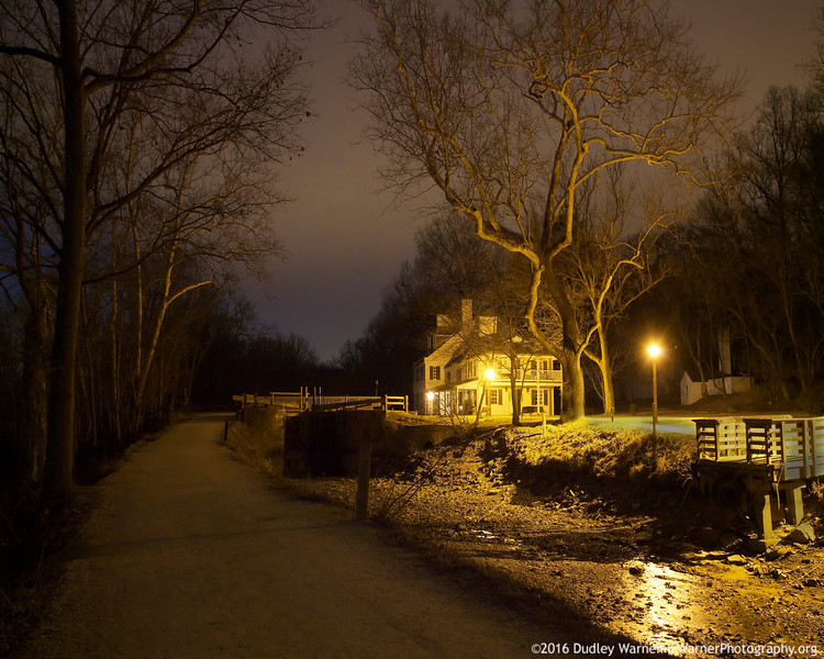 Great Falls Tavern - Winter Night.jpg