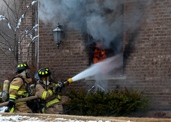 Pingree Grove Residential 3-Alarm Fire - Feb. 23, 2010