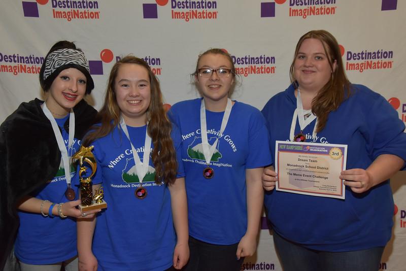 Monadnock Regional School District, New Hampshire, Dream Team, SL, pO: The Meme event, 130-46538, 3rd place