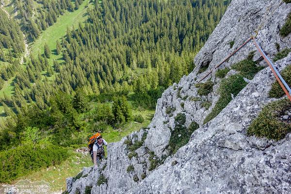 Seichenkopf alpine climbing, 2015-06-05
