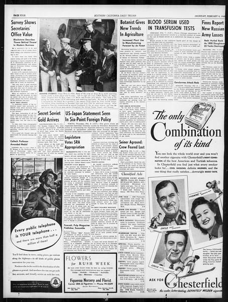 Daily Trojan, Vol. 31, No. 80, February 08, 1940