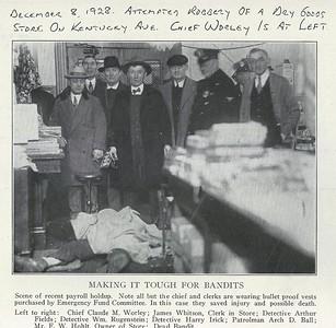 Dry Goods STore Robbery scene 1928