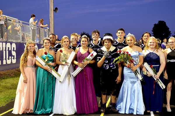 Crowning of Athens 2019 Fall Homecoming King & Queen 9-13-2019