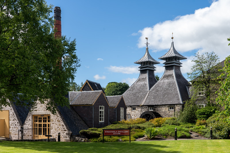 Strathisla Distillery in Scotland