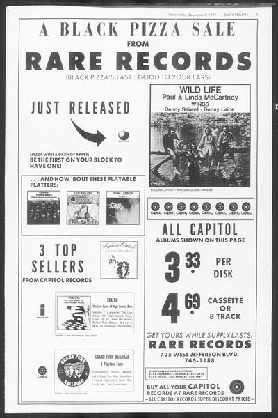 Daily Trojan, Vol. 64, No. 50, December 08, 1971