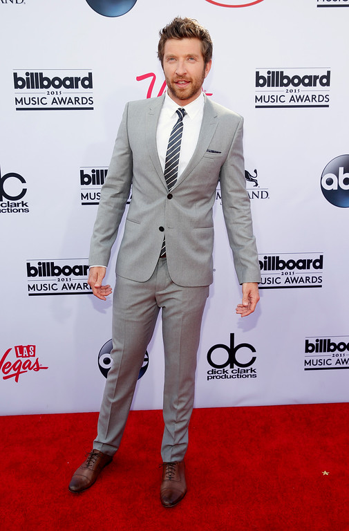 . Brett Eldredge arrives at the Billboard Music Awards at the MGM Grand Garden Arena on Sunday, May 17, 2015, in Las Vegas. (Photo by Eric Jamison/Invision/AP)