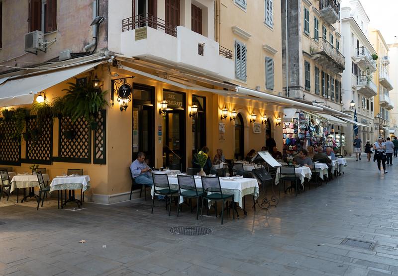 Rex Restaurant. Corfu Town