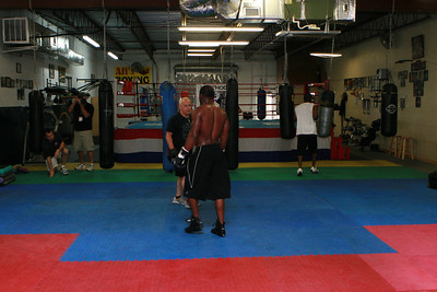 Jeff Lacy Trains for his fight April 10, 2009