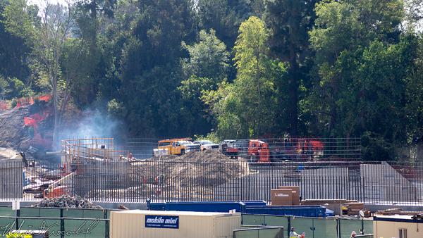 Disneyland Resort, Disneyland, Star Wars Land, Frontierland, Critter Country, Construction, Rivers of America, River, America, Big Thunder Mountain Railroad, Big Thunder