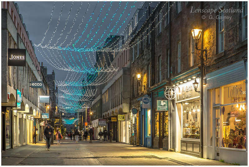 Rose Street Christmas lights