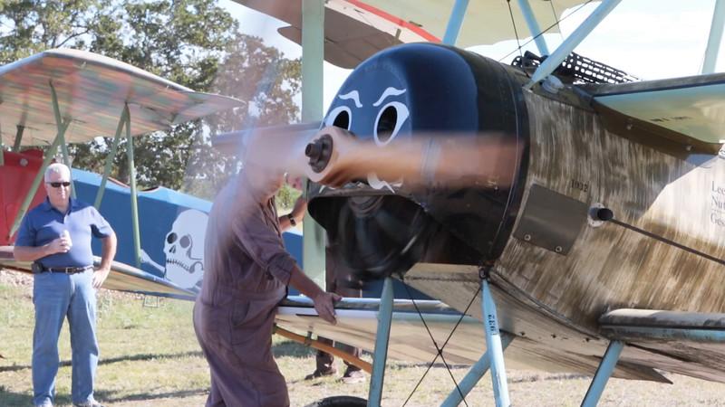 Kingsbury Air Fair - Sat, Nov 8, 2014 - Fokker Triplane engine startup videos