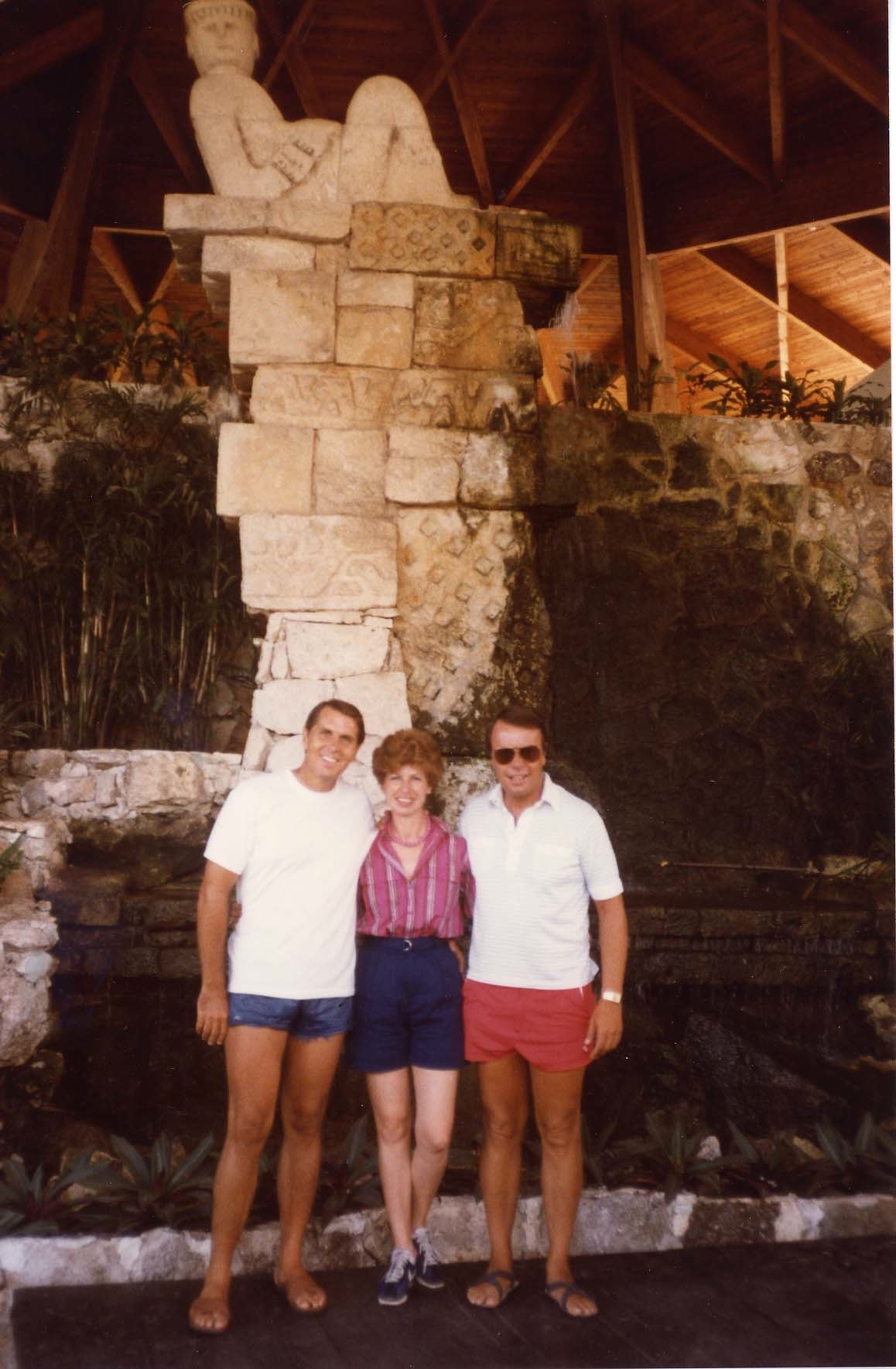 Tom, Betty and Lloyd in Cancun, Trip to Cazumel and Cancun, Mexico, August 20-27, 1983