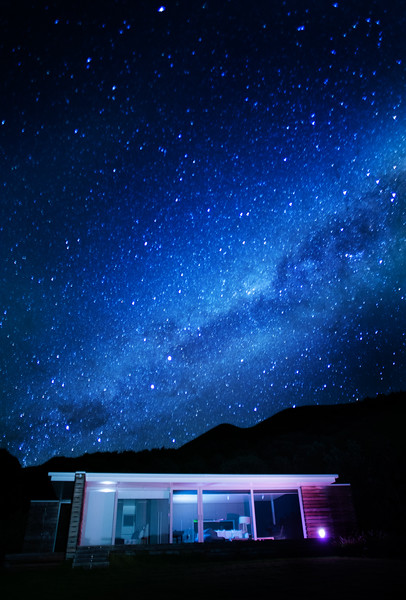 Milky Way Over the Bungalow