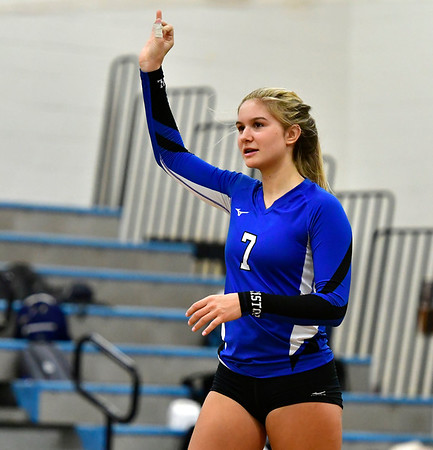 11/8/2018 Mike Orazzi | Staff Bristol Eastern High School's Zoe Lowe (7) during the Class L Second Round State Girls Volleyball Tournament in Bristol Thursday night.