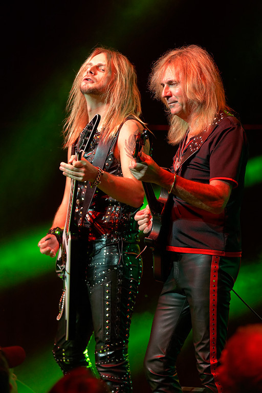 . Richie Faulkner and Glenn Tipton of Judas Priest at The Fox on Oct. 19, 2014. Photo by Ken Settle