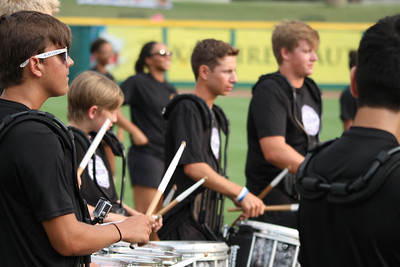 2015 08 21 Drumline & Guard @ Skeeters game