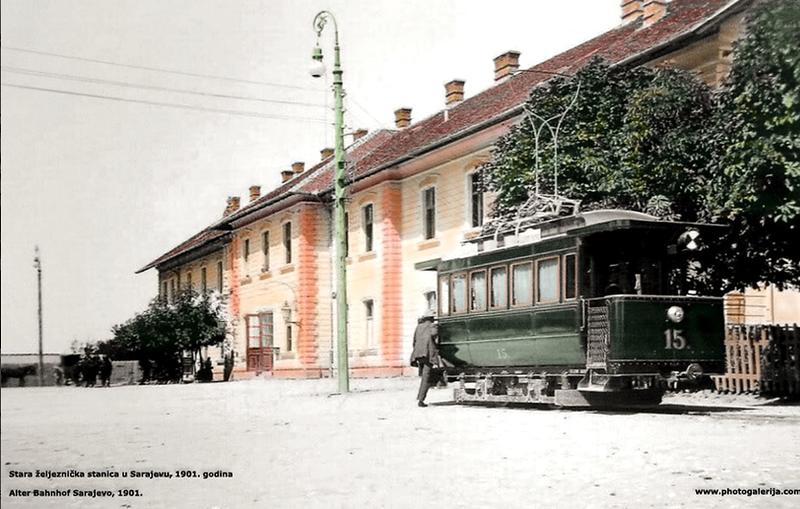 Stara željeznička stanica u Sarajevu 1901.