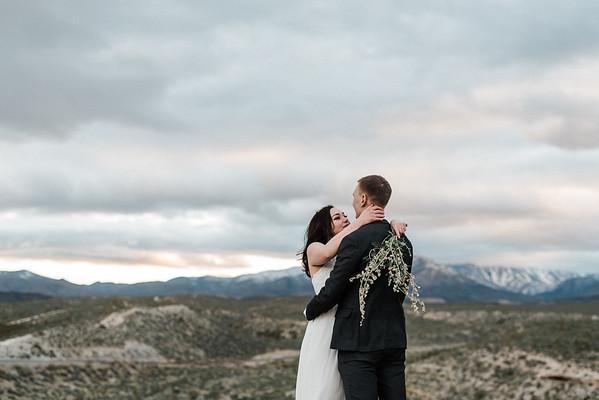 Ida & Jimmy | 7 year anniversary elopement | Mt. Charleston