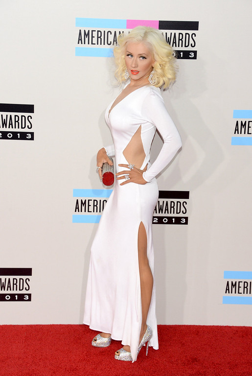 . Singer Christina Aguilera attends the 2013 American Music Awards at Nokia Theatre L.A. Live on November 24, 2013 in Los Angeles, California.  (Photo by Jason Kempin/Getty Images)