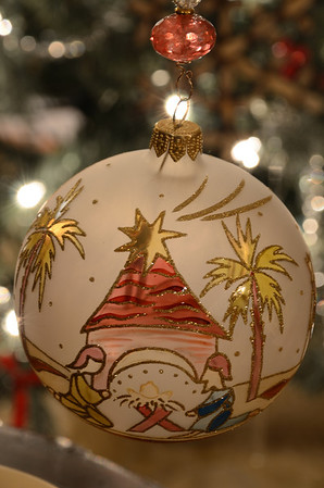 Nativity Christmas ornament.