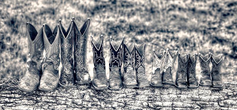 Family Boots-bw.jpg