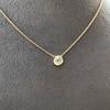 1.02ct Antique Heart Diamond Bezel Pendant 20