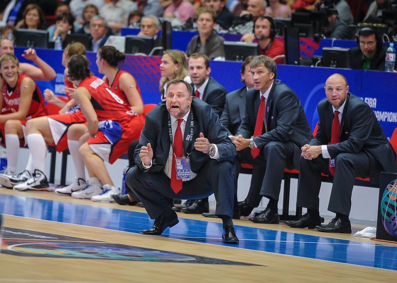 Team Czech Republic head coach Lubor Blazek