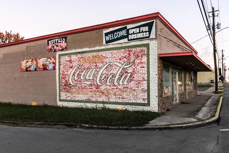 GA, Rockmart - Coca-Cola Wall Sign