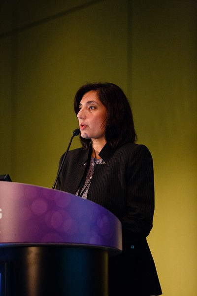 Ranee Mehra, MD, speaks during Precision Medicine: Making Progress for Patient Benefit
