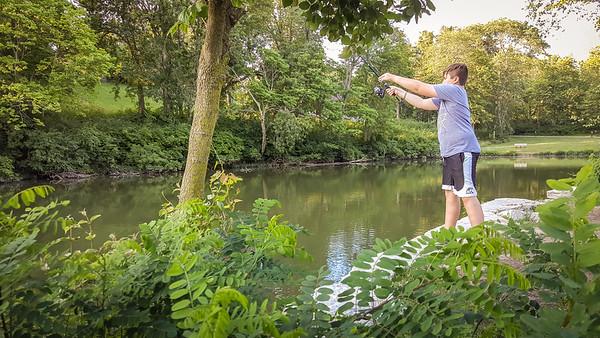 Fishing at Side Cut Park July 15, 2017