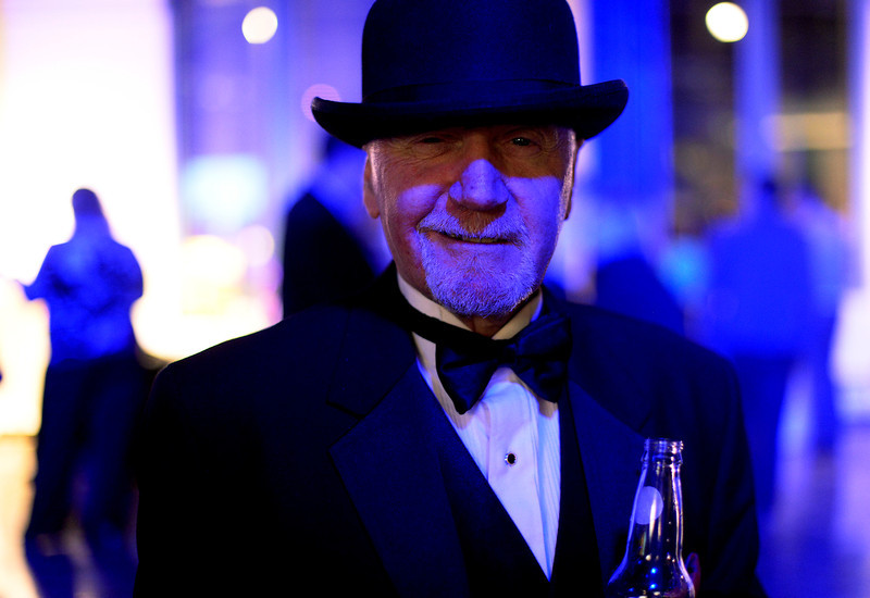 . Scotty Graves brought out his bowler hat  before the start of the second annual Westword Whiteout Fashion Show at the McNichols Building in Denver feature Denver designers on Thursday, January 30, 2014.  (Denver Post Photo by Cyrus McCrimmon)