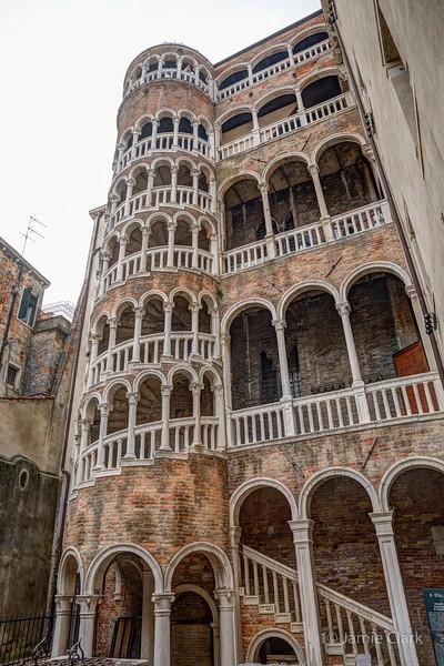 Scala Contarini del Bovolo, Venice, Italy -  October 2017
