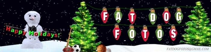 Christmas Fat Dog Logo LITE STRING w EMAIL 700x175
