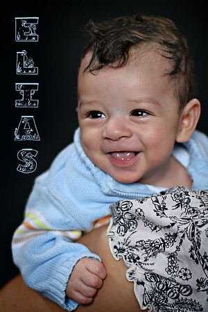 Elias' 4 Month Portraits