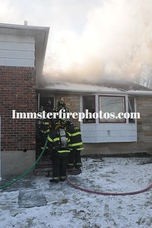 EAST MEADOW FD BRYANT STREET HOUSE FIRE 1-8-15