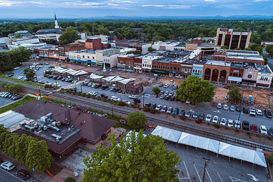 Downtown Hickory | 2019 Construction Aerials
