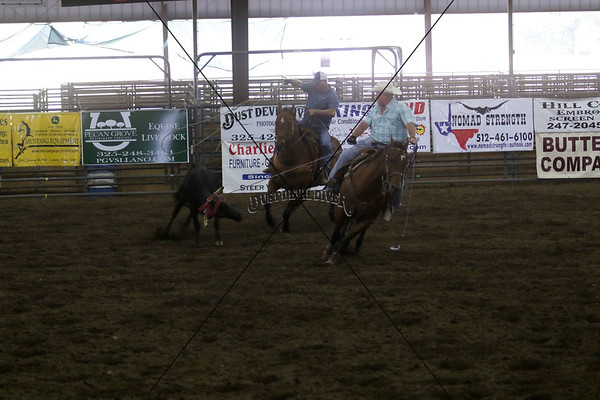 Llano County Team Roping 1st Go