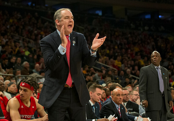 02/01/20 Wesley Bunnell | StaffrrRutgers University men's head basketball coach Steve Pikiell during a game against the University of Michigan on Saturday Feb. 1, 2020.