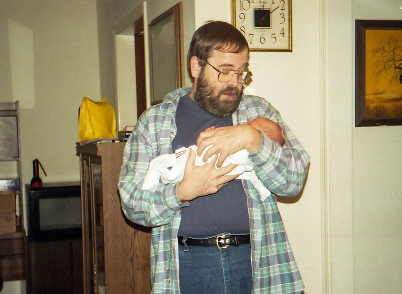 Grandpa and EJ December 25, 1997