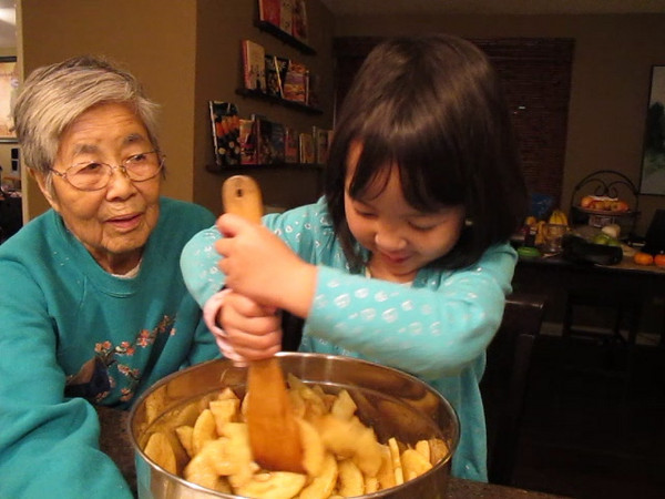 Making Apple Pie with Great Grandma