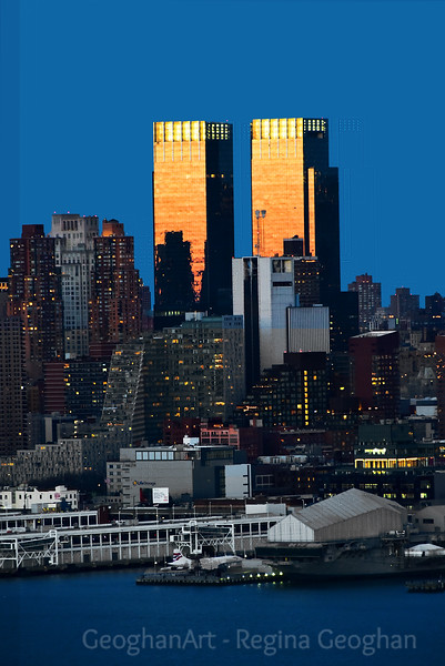 NYC Golden Sundown Towers