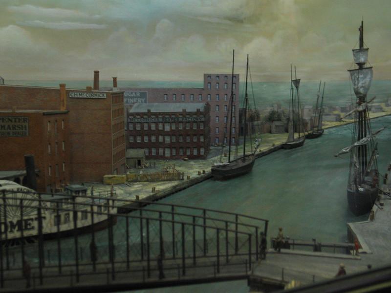 Rush Street Bridge, 1860
