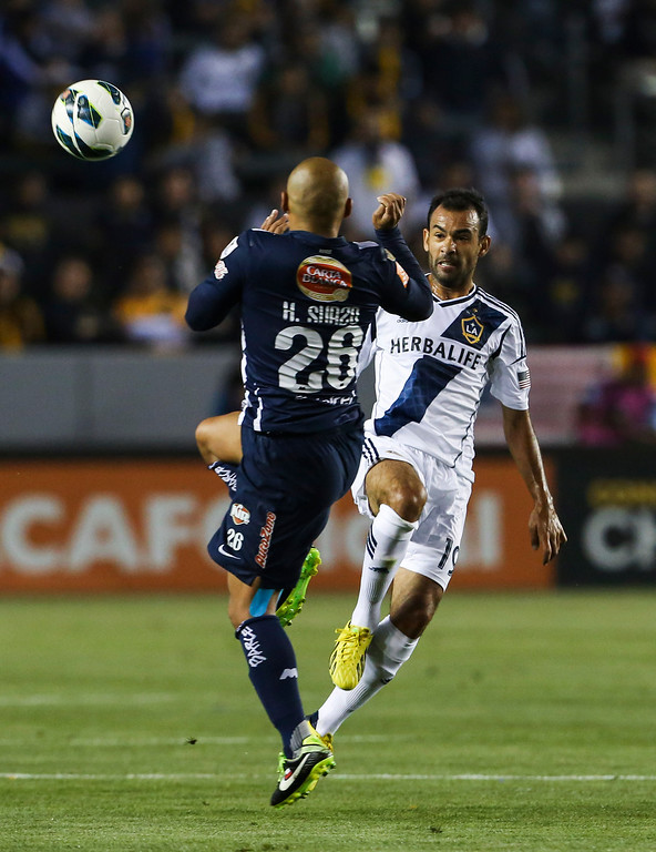 . Los Angeles Galaxy midfielder Juninho during the CONCACAF Champions League semifinal, Wednesday, April 3, 2013, in Carson, Calif. Monterrey won 2-1. (AP Photo/Bret Hartman)