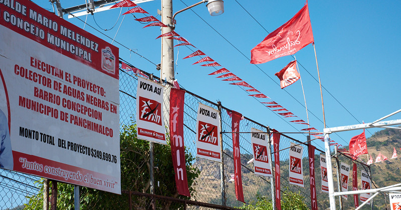 Political signs in Panchimalco.