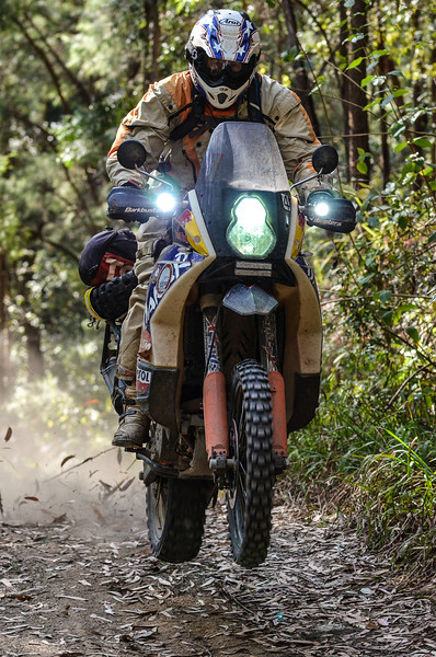 John Hudson leading the way on the trails around Coffs Harbour.