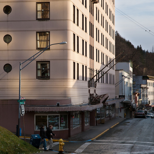 The Baranof Hotel, downtown Juneau, still a functioning hotel and restaurant. November 26th, 2010.
