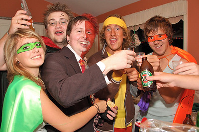 Clinton's 21st Party Photos_Heroes & Villains