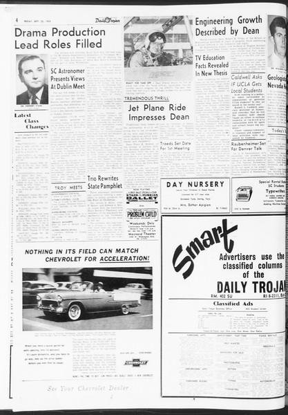 Daily Trojan, Vol. 47, No. 6, September 23, 1955