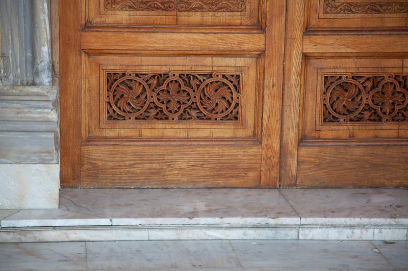 Detail of door. Heraklion, Crete