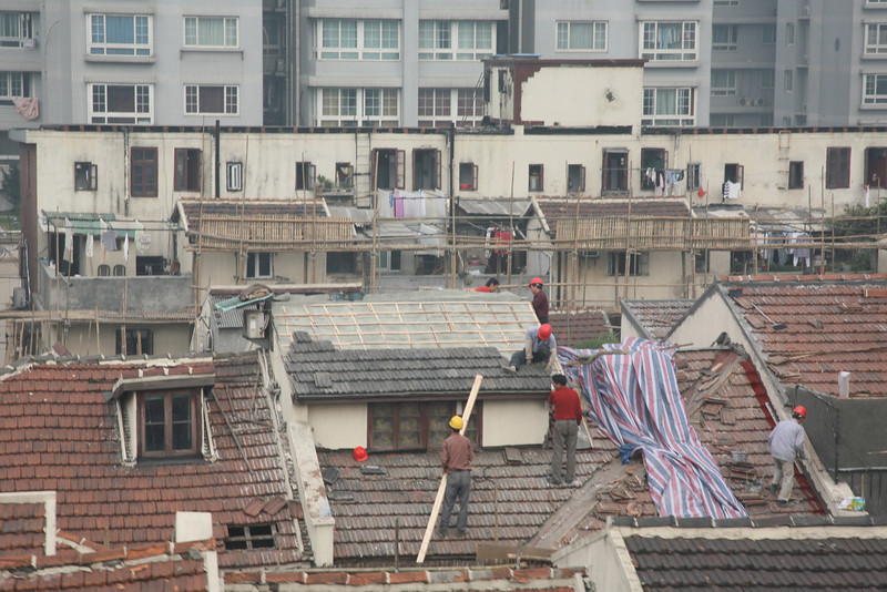 Construction Workers, Shanghai, China